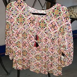 Crown & Ivy blouse size small new